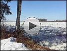 Ice-out on the Susitna River, one